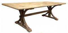 """Santiago"" Hamptons Style Dining Table Recycled Elm in Natural, 200cm x 100cm x 76cmH"