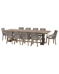 """""""Tuscany"""" 11 Piece Dining Package 300cm Hardwood Timber Dining Table with 10 Avoca Chairs"""