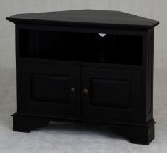"""Normandy"" Chocolate French Provincial Corner Solid Mahogany Timber 90cm TV Unit with 2 Doors"