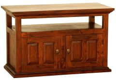 """Normandy"" Light Pecan French Provincial Hardwood Mahogany Timber TV Unit with 2 Doors"