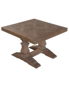 """Provence"" Hamptons Style Solid Timber Lamp Table with Pedestal Base, 67cm x 67cm x 45.7cm"