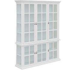 """""""Sommersby"""" Hampton Style White Timber 6 Door Display Cabinet, 170x41x220cm"""