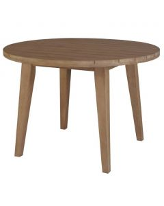 """""""Maldives"""" Hamptons Style Outdoor Round Timber Dining Table, 110cm DIA x H75cm"""
