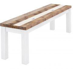 """Bayview"" Coastal Style Hardwood Timber Bench, 150cm x 35cm x 45cmH"