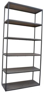 """Manhattan"" Solid Hardwood Natural Distress Large Bookshelf, 80x30x170cm"