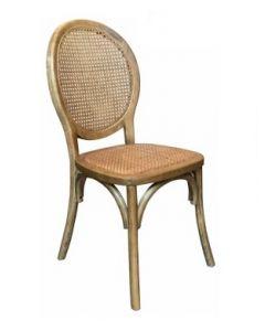 """Seychelles"" Plantation Style Cane Weave Rattan Dining Chair Natural, 44cm x 55cm x 95cmH"