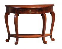 """Maison"" Mahogany Stain Half Round Mahogany Hardwood Timber Hall Table"
