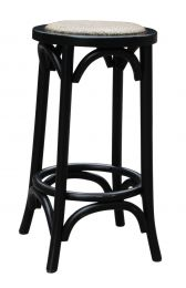 """Noosa"" Oak Hardwood Timber Kitchen Counter Bar Stool Black"