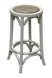 """Noosa"" Oak Hardwood Timber Kitchen Counter Bar Stool Antique White"
