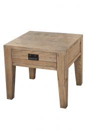"FLOOR STOCK CLEARANCE SALE ""Noosa"" 55x55cm Oak Timber Side Lamp Table with Drawer"