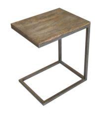 """Manhattan"" Solid Hardwood & Metal Side Table ""C"""
