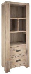 """Fraser"" 2 Drawer Bookshelf Acacia Timber with Ash Finish"