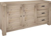 """Fraser"" 3 Drawer 2 Door Sideboard Acacia Timber Ash Finish 165cm"