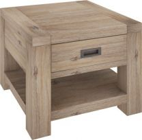 """Fraser"" 1 Drawer Lamp Table Acacia Timber with Ash Finish"