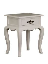 """Provence"" 1 Drawer French Provincial Timber Lamp Table White"