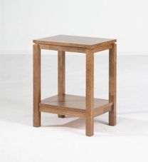"""Trend"" Timber Square Side Table with Shelf Natural"