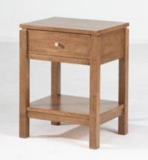 """Trend"" Timber 1 Drawer Bedside Table with Shelf Natural"
