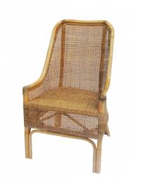 """""""Albany"""" Hampton Rattan Cane Armchair Dining Chair in Natural Olive"""