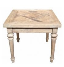 """Morocco"" Recycled Elm Hardwood Parquetry Lamp Table"