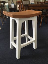 """""""Kyoto"""" Timber Japanese Style Kitchen Stool 67cm 4 Colours"""