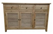 """Palm Beach"" Timber 3 Door Sideboard Buffet 140cm Oak"