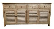 """Palm Beach"" Timber 4 Door Sideboard Buffet 180cm Oak"