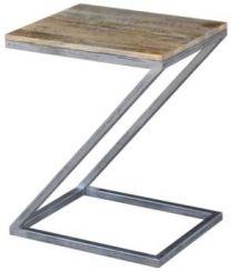 """Manhattan"" Solid Hardwood & Metal Side Table ""Z"""