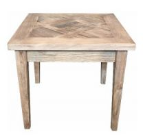 Casablanca Recycled Elm Hardwood Parquetry Lamp Table