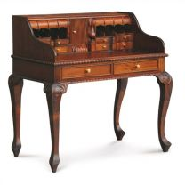 """Maison"" Mahogany Hardwood Timber Writing Desk French Provincial Style"
