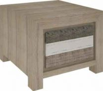 """Beachside"" Hardwood Timber Lamp Side Table with 1 Drawer"