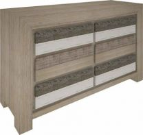"""Beachside""Hardwood Timber Dresser with 6 Drawers"