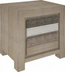 """Beachside"" Hardwood Timber Bedside Table with 2 Drawers"