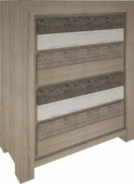 """Beachside""Hardwood Timber Tallboy with 4 Drawers"