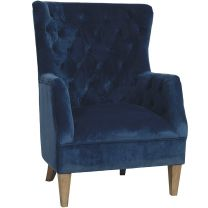 """Estate"" Velvet Occasional Armchair in Navy"
