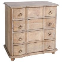 """Mayfair"" Solid Hardwood Timber 4 Drawer Chest, 80x50x80cm"