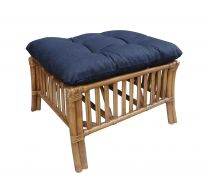 """Hampton"" Lounge Foot Stool in BJ Teak with Black Covers"