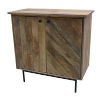 """Clyde"" Hardwood Timber Cabinet with 2 Drawers in Oak"