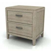 """""""Barbados"""" Solid Hardwood Timber Bedside Table with 2 Drawers - ONLY 2 LEFT IN STOCK"""