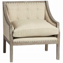 """Lannister"" Viceroy Chair in Natural Linen"