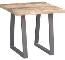 """""""Gordon"""" Industrial Style Live Edge Natural Lamp Table, 60x60xH56cm"""