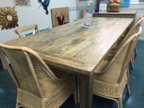 """FLOOR STOCK CLEARANCE SALE """"St Barts"""" Solid Hardwood Parquetry Timber Dining Table 260x120cm"""