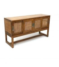 """Barbados"" British Colonial Style Timber 4 Drawer Sideboard Table Rustic 145 x 45 x 76cm"