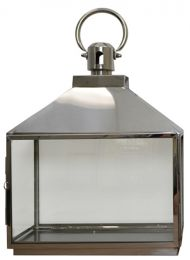 Rectangle Stainless Steel Candle Lantern Holder 35x16x45cm