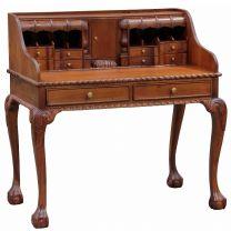 """Maison"" French Provincial Style Light Pecan Hardwood Mahogany Timber Writing Desk"