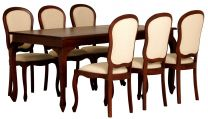 """Maison"" Mahogany 9 Piece French Provincial Style 180x90 Solid Hardwood Timber Mahogany Dining Table with 6 chairs"