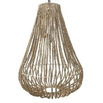 """""""Aria"""" Hamptons Style Natural Beaded Chandelier"""