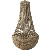 """""""Aria"""" Natural Tight Beaded Chandelier 74x42cm"""