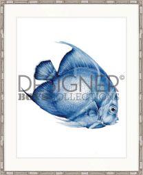 Exotic Fish I (Indigo Blue) - AVAILABLE IN 3 SIZES
