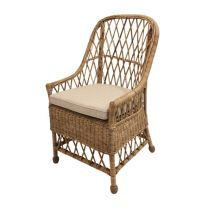 """Yari"" FLOOR STOCK SALE Natural Open Weave Cane Chair ONLY 1 LEFT"