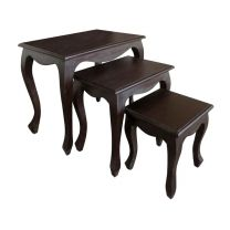 """""""Maison"""" Chocolate Solid Hardwood Nest of Tables Solid Mahogany Timber"""